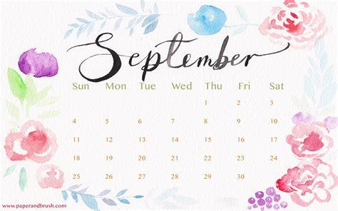 September 2016 Calendar Printable