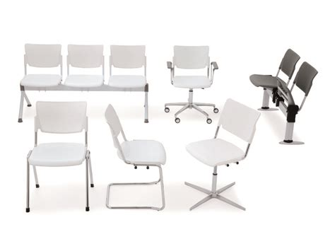 lamia plastic waiting room chair with armrests by diemmebi