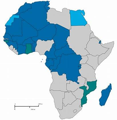 Africa Francophone Svg Wikipedia French Map Wiki