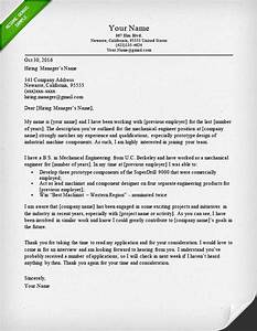 engineering cover letter templates resume genius With cover letter for mechanical engineer