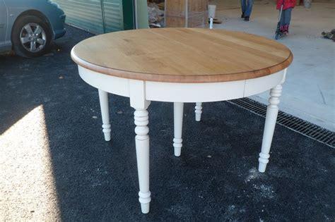 table ronde chene massif avec rallonges