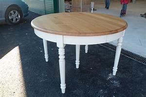 Table Bois Avec Rallonge : table ronde chene massif avec rallonges ~ Teatrodelosmanantiales.com Idées de Décoration