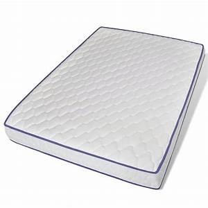 acheter lit en metal avec matelas mousse a memoire 140 x With nettoyage tapis avec matelas mousse pour canapé lit