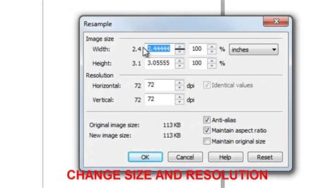 Image Size How To Increase Image Size And Resolution In Coreldraw X5