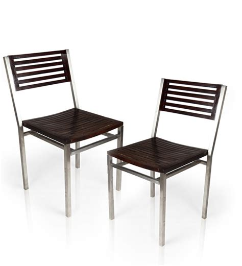 dining chairs with steel frame by mudra outdoor