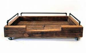 Custom reclaimed wood dog beds from olga guanabara dog for Bed frame with dog kennel