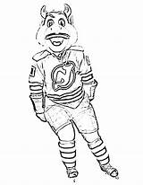 Goalie Coloring Pages Mask Hockey Bruins Getdrawings sketch template