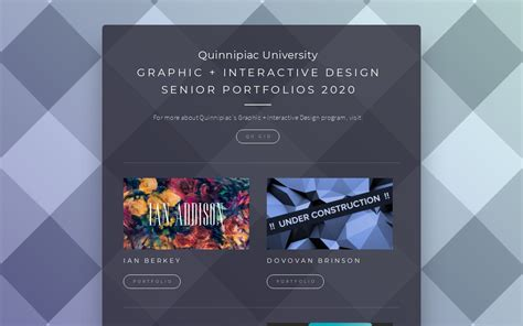 quinnipiac universitys graphic interactive design