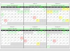 Hijri Calendar 1439 yearly printable calendar