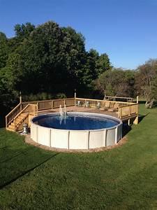 Pool Dach Rund : above ground pool deck for 24 ft round pool deck is 28x28 ~ Watch28wear.com Haus und Dekorationen