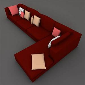 sectional sofa 3d model With sectional sofa 3d model