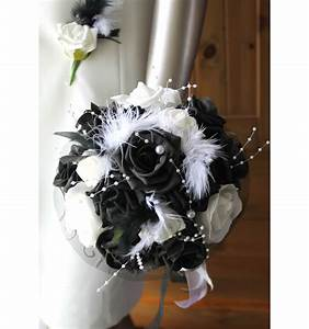 Bouquet De La Mariée : bouquet de mari e noir et blanc avec roses perles strass ~ Melissatoandfro.com Idées de Décoration