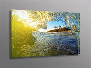 Ocean Wave Photo Aluminum Metal Print Surfing Waves Art
