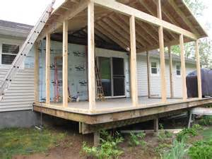 Deck Screened Porch Modern Shed Roof Screened Porch Plans