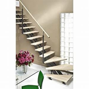 Marche Bois Escalier : escalier quart tournant escatwin structure aluminium ~ Premium-room.com Idées de Décoration