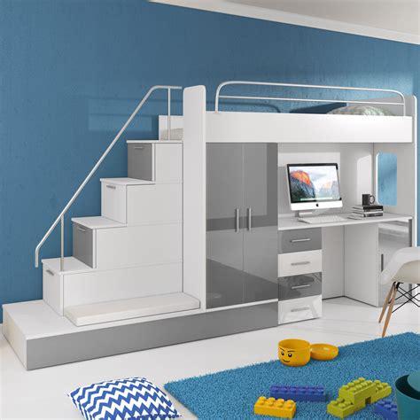 Kinderbett Mit Schreibtisch by Hochbett Kinderbett Mit Schreibtisch Und Schrank