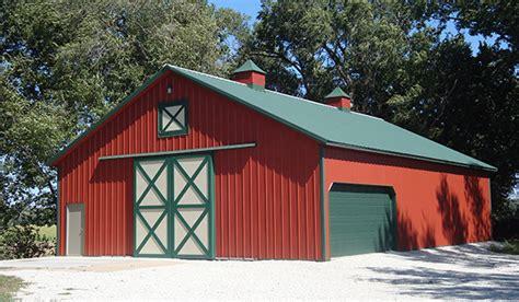 pole barns metal steel garages lester buildings
