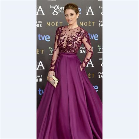 Noble Purple Celebrity Red Carpet Runway Dresses With