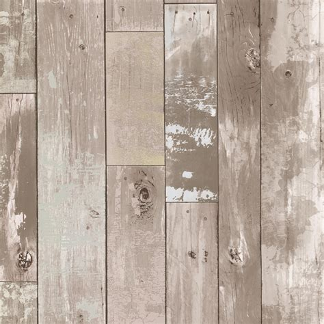 vinyl wood wall covering shop brewster wallcovering kitchen and bath resource iii 56 sq ft taupe vinyl wood wallpaper at