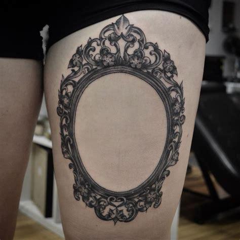 victorian frame tattoo framed tattoo mirror tattoos