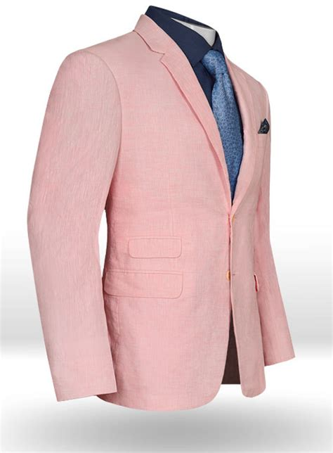 light pink jacket light pink linen jacket makeyourownjeans 174 made to