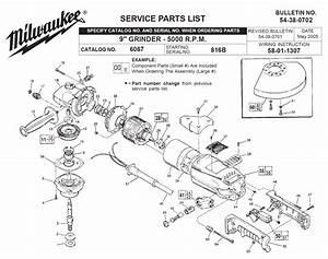 30 Milwaukee Grinder Parts Diagram