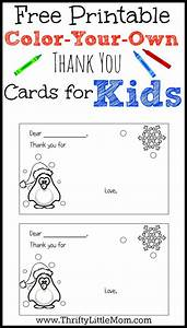 print your own cards color your own printable thank you cards for kids free