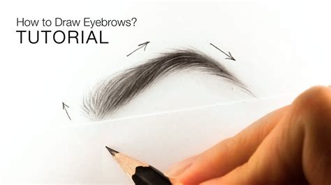 draw realistic eyebrows  beginners easy