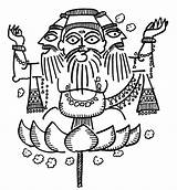 Brahma sketch template