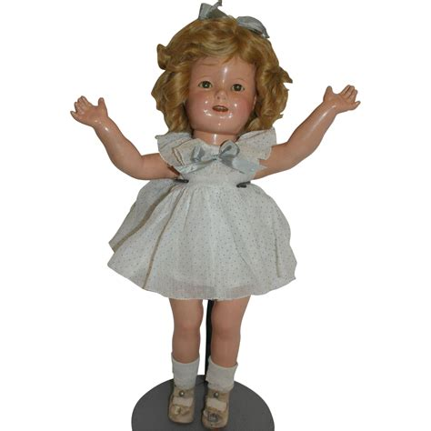 shirley temple doll 1930 s composition shirley temple doll from rubylane sold on ruby lane