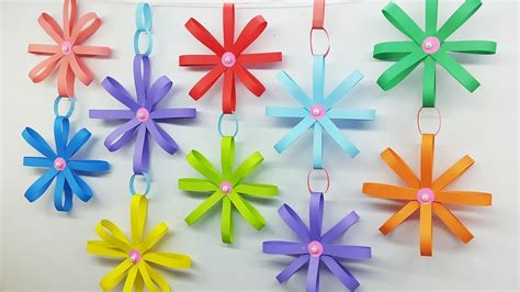 paper wall hanging flowers home decor diy