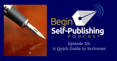 A Quick Guide To Scrivener  Begin Selfpublishing