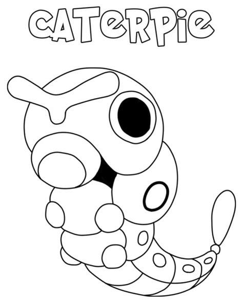 immagini di pokémon da disegnare disegno di caterpie da colorare gratis