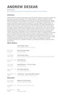 school social worker intern resume social work intern resume sles visualcv resume sles database