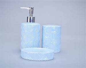 hot sale light blue glazed brand name bathroom accessories With branded bathroom fittings