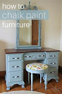 how to use chalkboard paint How To Chalk Paint Furniture - Cleverly Simple