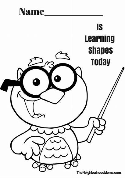 Shapes Coloring Printable Pages Preschool Shape Colouring