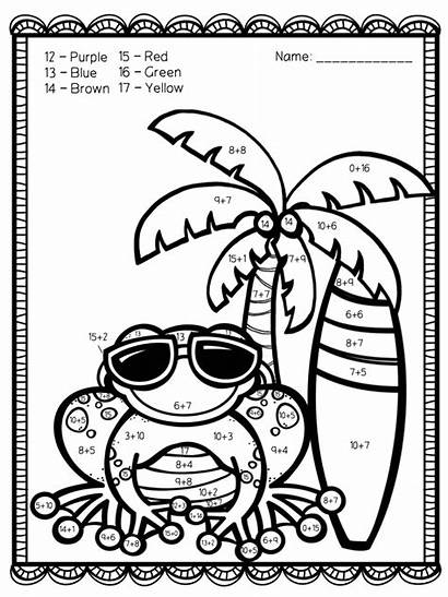 Number Addition Coloring Printable Teacherspayteachers Sheets