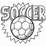 Coloring Pages Football Ball Soccer Brazil Printable Cool Getcoloringpages Print Goal sketch template