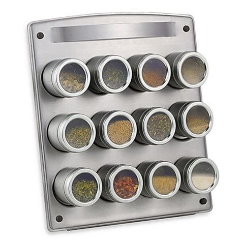 Kamenstein 12 Tin Magnetic Spice Rack by Kamenstein 174 Magnetic 12 Jar Spice Rack With Easel Bed