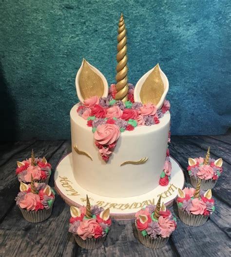 pink unicorn cake  cupcakes cake  maria louise