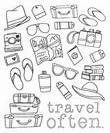 Colouring Coloring Travel Adult Sheets Activities Journal Icon sketch template