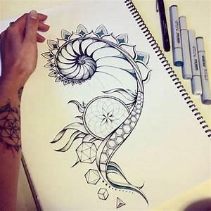 Fibonacci and sacred geometry tattoo design on Behance ...