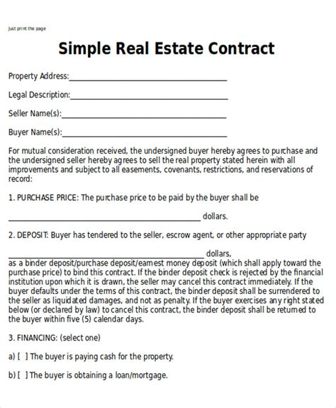 sample home sales contracts  examples  word