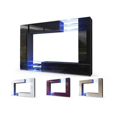 armoire chambre à coucher meuble tv mural design led samba cbc meubles