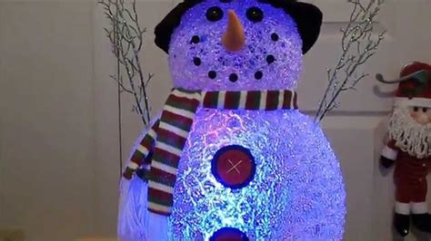color changing led snowman christmas decoration youtube