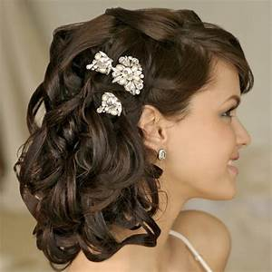 long curly wedding hairstyles with flowersCherry Marry