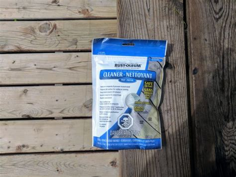 deck maintenance  rustoleum premium deck cleaner pouch