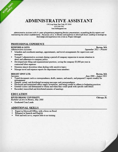 administrative assistant resume skills best resume gallery
