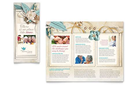 Home Health Care Brochure Templates by Hospice Home Care Tri Fold Brochure Template Design